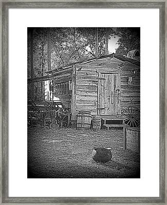 Pioneer Tool Shed Framed Print by Sheri McLeroy