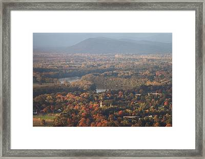 Pioneer Valley Fall Foliage From Holyoke Range Framed Print by John Burk