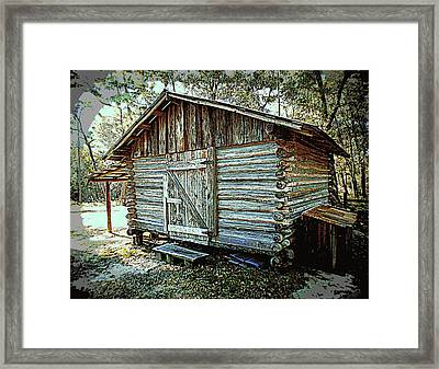 Pioneer Woodshed Framed Print by Sheri McLeroy