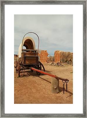 Pionner Wagon Framed Print by Jeff Swan