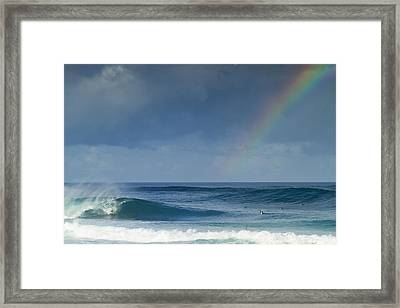 Pipe At The End Of The Rainbow Framed Print by Sean Davey