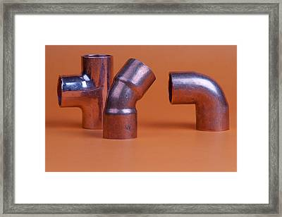 Pipe Fittings Framed Print by Marek Poplawski