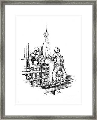 Pipefitters Framed Print by Steve Knapp