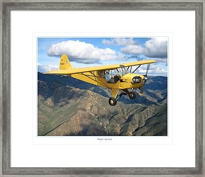 Piper Cub Framed Print by Larry McManus
