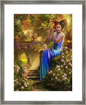 Pipers Lullaby Framed Print by Drazenka Kimpel