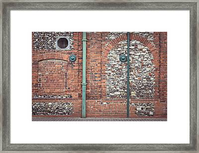 Pipes And Wall Framed Print by Tom Gowanlock