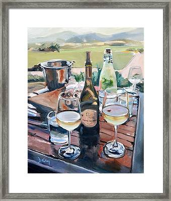 Pippin Hill Picnic Framed Print by Donna Tuten