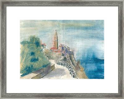 Piran - St. George Church Framed Print by Marko Jezernik