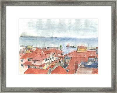 Piran - View From St.george's Church Framed Print by Marko Jezernik