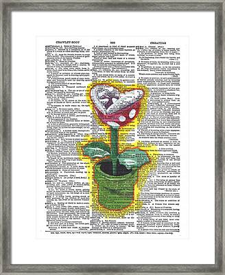 Piranha Plant Framed Print by Kyle Willis