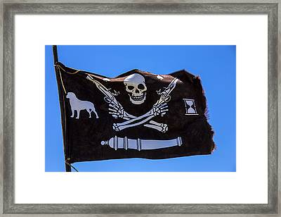 Pirate Flag With Skull And Pistols Framed Print by Garry Gay