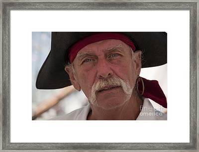 Pirate Henry Hawkes Framed Print by Brenda Kean