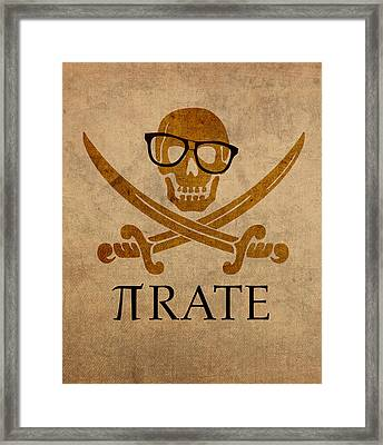 Pirate Math Nerd Humor Poster Art Framed Print by Design Turnpike