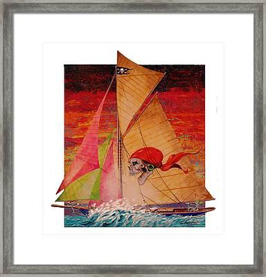 Pirate Passage Framed Print by David  Chapple