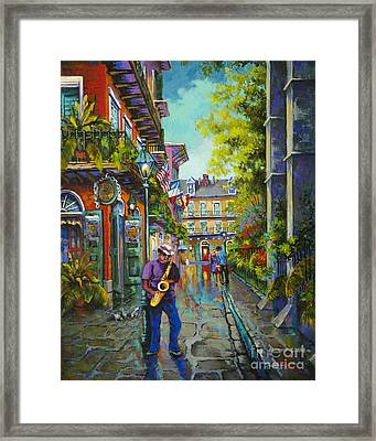 Pirate Sax Framed Print by Dianne Parks