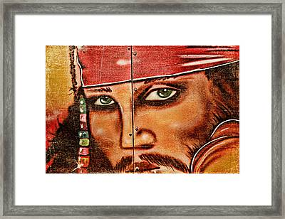 Pirate Seduction Framed Print by Toni Hopper