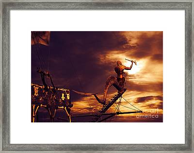 Pirate Ship Framed Print by Jelena Jovanovic