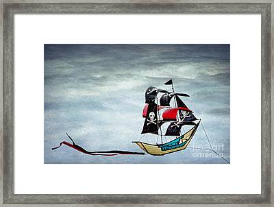 Pirate Ship Framed Print by Peggy Hughes
