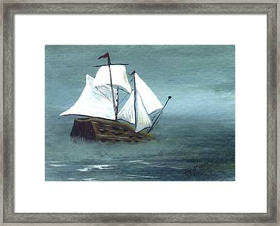 Pirate Ship Framed Print by Phyllisann Arthurs