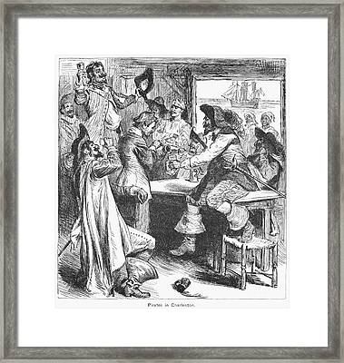 Pirates, 17th Century Framed Print by Granger