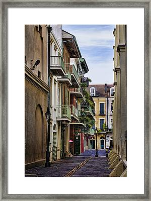 Pirates Alley Framed Print by Heather Applegate