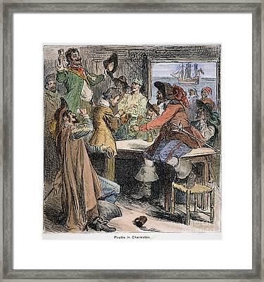 Pirates In Tavern Framed Print by Granger