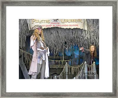 Pirates Of The Caribbean Framed Print by Spirit Baker