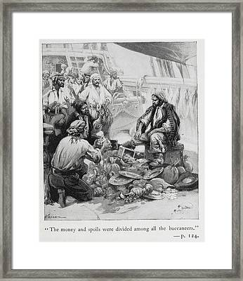 Pirates Sort Through Their Plunder Framed Print by British Library