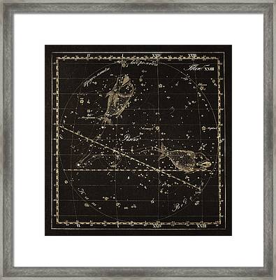 Pisces Constellation, 1829 Framed Print by Science Photo Library