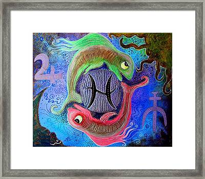 Pisces Framed Print by Laura Barbosa