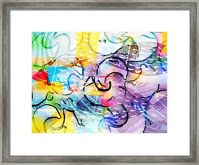 Pisces Framed Print by Lutz Baar