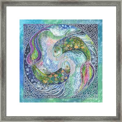 Pisces Xii Framed Print by Kate Bedell