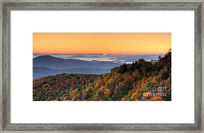 Pisgah Sunrise - Blue Ridge Parkway Framed Print by Dan Carmichael