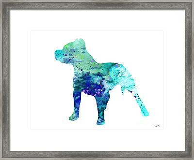 Pit Bull  Framed Print by Luke and Slavi