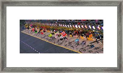 Pit Road Framed Print by Kenneth Krolikowski