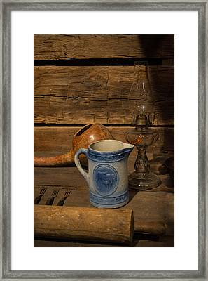 Pitcher Cup And Lamp Framed Print by Douglas Barnett
