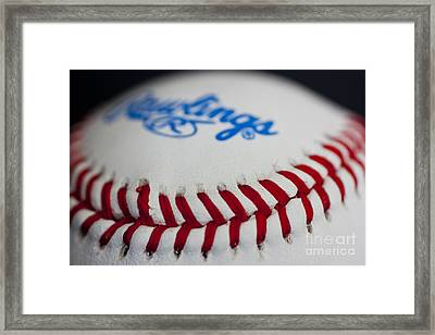 Pitchers And Catchers In 24 Days Framed Print by David Bearden