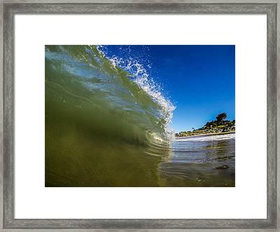 Pitching Wave Framed Print by David Alexander