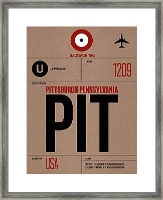 Pittsburgh Airport Poster 1 Framed Print by Naxart Studio