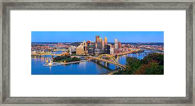 Pittsburgh And The Ducky  Framed Print by Emmanuel Panagiotakis