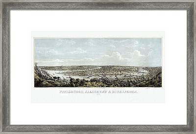 Pittsburgh Framed Print by Celestial Images