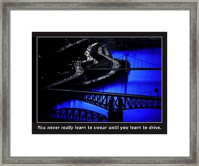 Pittsburgh Drivers Framed Print by Mike Flynn