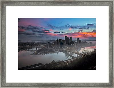 Pittsburgh January Thaw Framed Print by Jennifer Grover