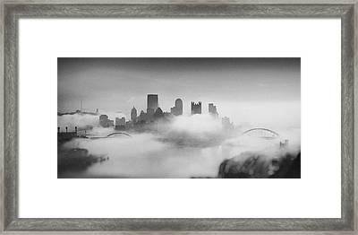 Pittsburgh Pano 8 Framed Print by Emmanuel Panagiotakis