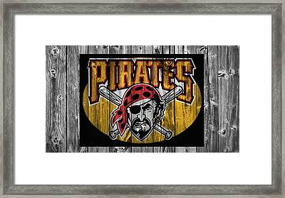 Pittsburgh Pirates Barn Door Framed Print by Dan Sproul