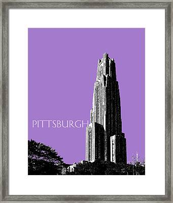 Pittsburgh Skyline Cathedral Of Learning - Violet Framed Print by DB Artist