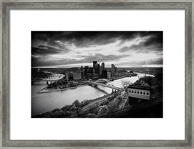 Pittsburgh Skyline1 Framed Print by Emmanuel Panagiotakis
