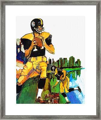 Pittsburgh Steelers 1967 Vintage Print Framed Print by Big 88 Artworks