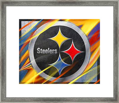 Pittsburgh Steelers Football Framed Print by Tony Rubino