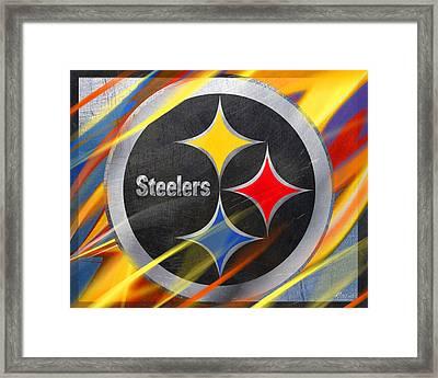 Pittsburgh Steelers Football Framed Print by Tony Rubino